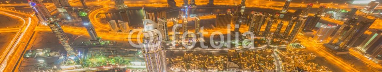 93382233 – Azerbaijan – Panorama of night Dubai during sunset