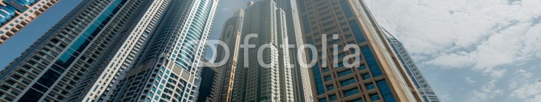93384380 – Azerbaijan – Dubai – AUGUST 9, 2014: Dubai Marina district on August 9 in UAE