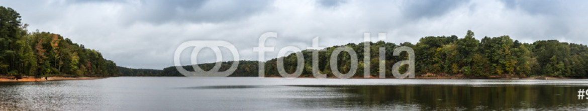 93503574 – United States of America – Panoramic view of Lake surrounded by Trees