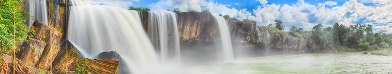 Стеклянный фартук Бущующий водопад