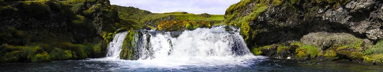 Панель для кухни Роскошный водопад