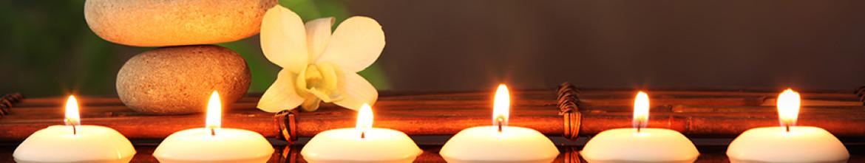 Кухонный фартук Горящие свечи