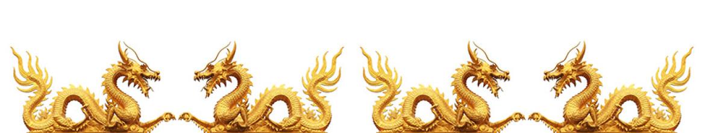 Кухонные скинали Золотые драконы