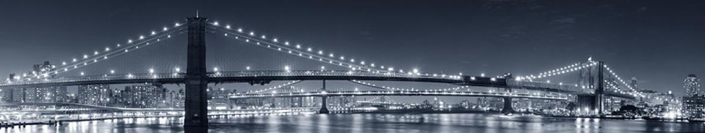 Стеклянные панели Обесцвеченное фото моста