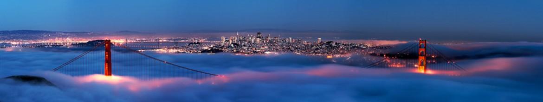 Фартук из стекла Синий туман