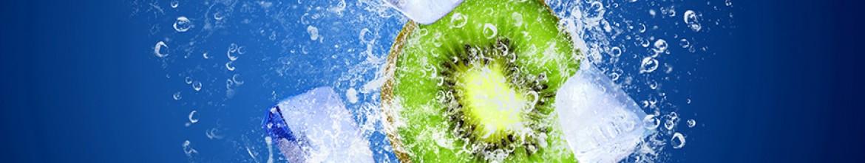 Фартук для кухни Лед и киви в воде