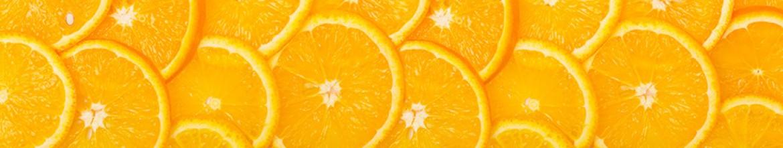 Стеклянные скинали Дольки апельсинов