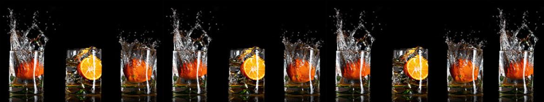 Панели для кухни Апельсин в стакане воды