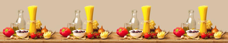 Панели из стекла Лапша, овощи и специи