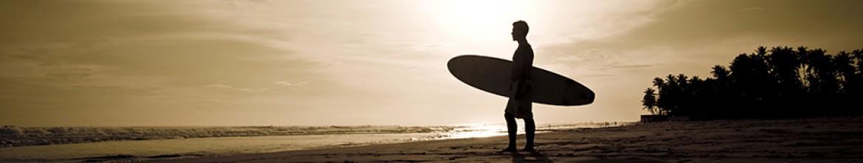 Фартук для кухни Человек с доской для серфинга