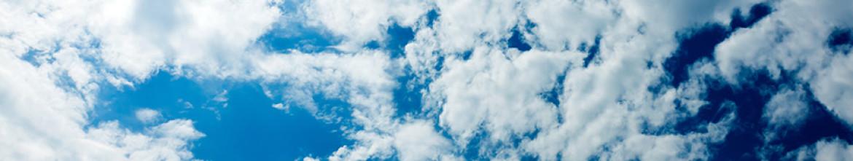 Кухонная панель Объёмное синее небо